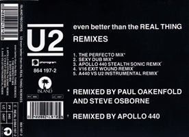 U2 - Even Better Than The Real Thing - The Remixes
