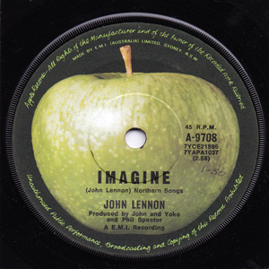 LENNON, JOHN - Imagine / It's So Hard Record