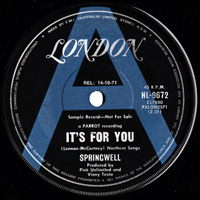 SPRINGWELL - It's For You / Our Question